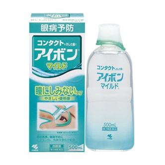 【日本直邮】KOBAYASHI小林制药 绿色温和消除眼疲劳隐形眼镜洗眼液 500ml