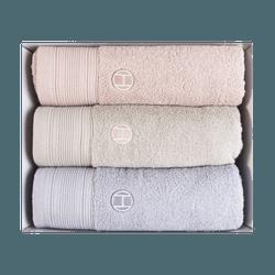 韓國SONGWOL松月 素色全棉浴巾 3條入 50cmx100cm