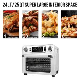【$60 OFF】美國USBLUEWAVE 23L 智能大容量空氣烤箱 (不銹鋼色)
