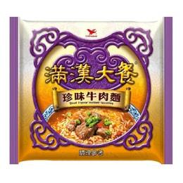[臺灣直郵] 統一滿漢大餐 珍味牛肉面 200g /單包(限購2包)