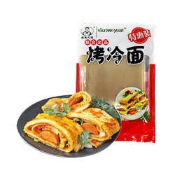 吉朱大福&SUNWAY 東北烤冷面 615g  全新升級版 超值10片裝 內附小刷子和醬料包