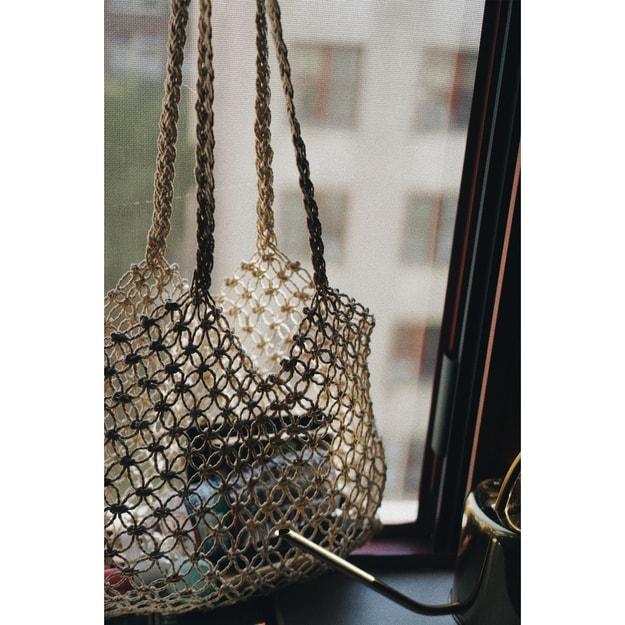 Product Detail - VERAFIED Megan Weaved Bag White One-sized - image 0