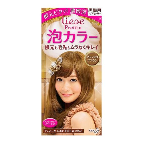 Kao Liese Prettia Bubble Hair Dye Marshmallow Brown 1set