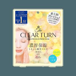 日本高絲 Clear Turn鮮粹面膜 膠原蛋白彈力面膜 5倍透明質酸 3片入