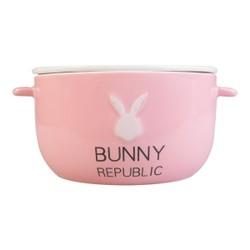 KINGBIRD BUNNY REPUBLIC 兔子共和國 陶瓷碗盤 #粉紅色 可微波