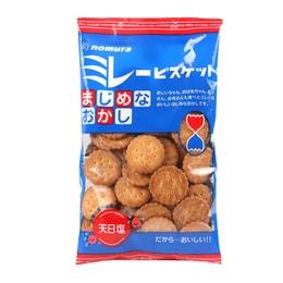 【日本直郵】NOMURA野村煎豆 蔡文靜推薦 植物油全麥粗糧天日鹽健康小餅干130g