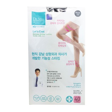 韓國DR.MIZ 高彈壓力絲襪 #黑色 40D