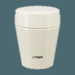 日本TIGER虎牌 不銹鋼真空保溫保冷燜燒罐 #白色 300ml MCC-C030