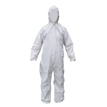 SAFE FIT Cov63 連體防護服防油脂耐撕裂吸汗水手腕腳踝有松緊無鞋套 L 1件
