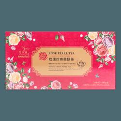 臺灣阿華師 玫瑰珍珠美妍茶  36包 18份 180g
