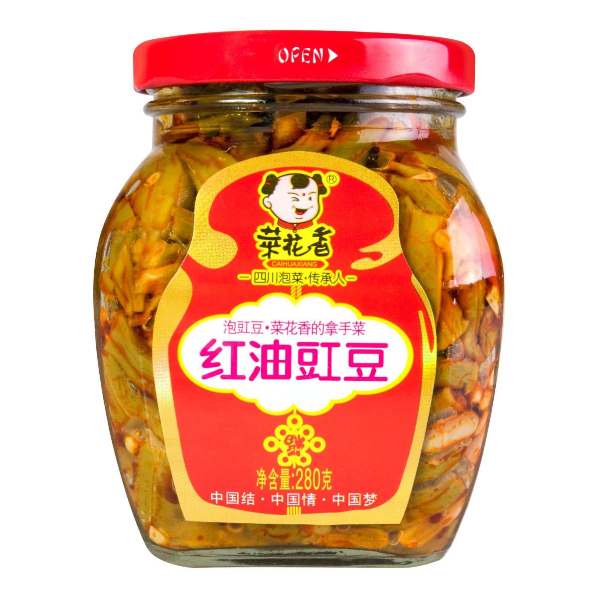 菜花香 老坛秘制 地道川味 即食红油豇豆 280g
