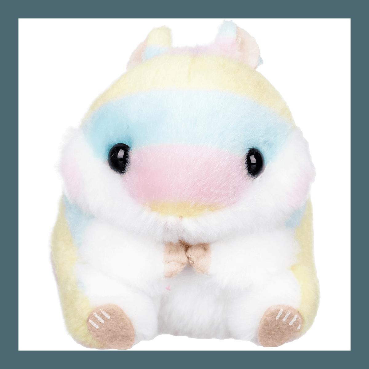 日本AMUSE 可爱彩虹仓鼠公仔娃娃玩偶钥匙圈 4英寸