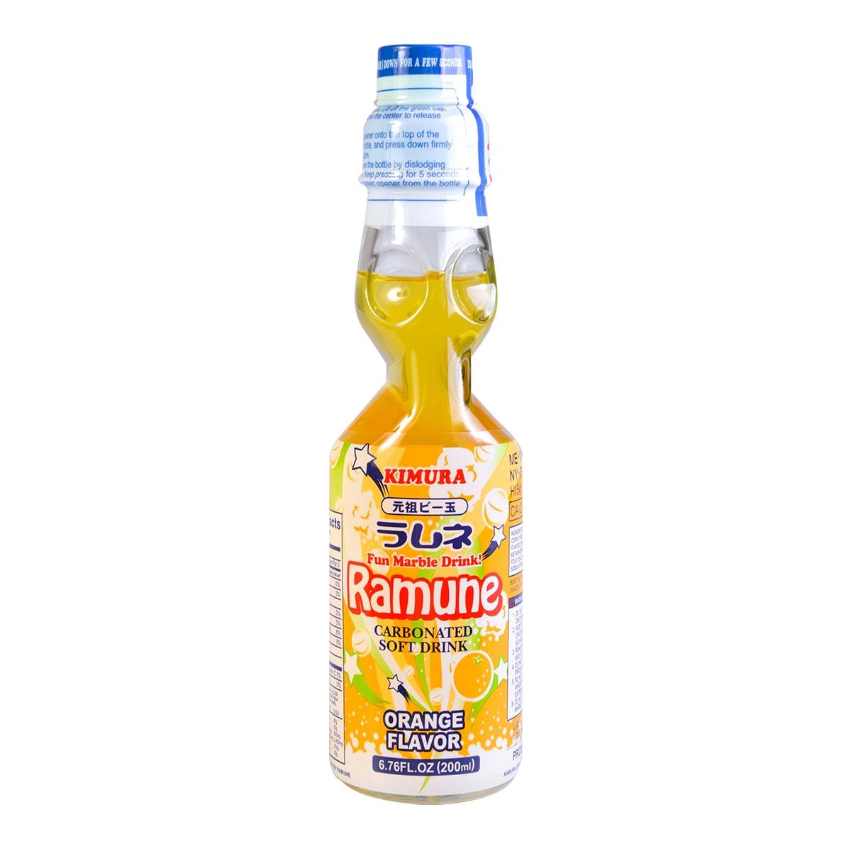 KIMURA Ramune Soda Orange Flavor 200ml