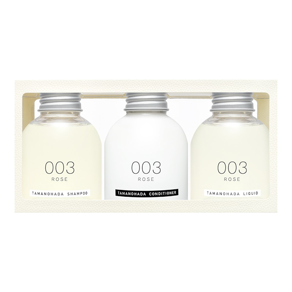 TAMANOHADA amenity 003 rose Travel Set 80ml*3