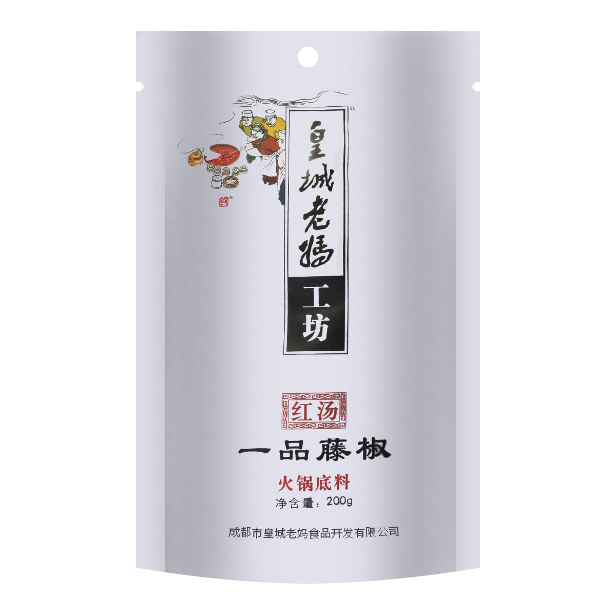 HUANGCHENG LAOMA Hot Pot Soup Base Spicy Flavor 200g