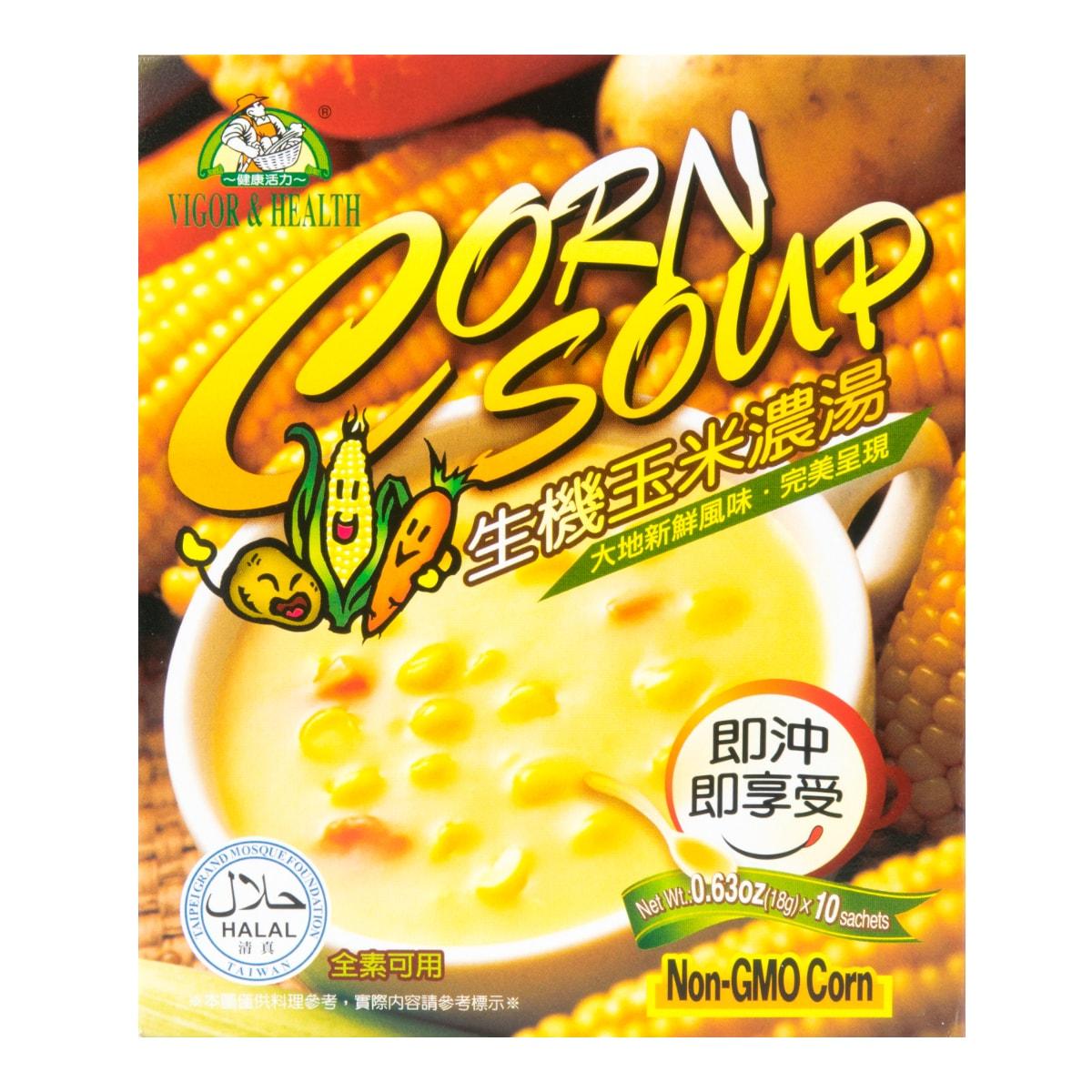 台湾有机厨坊 生机玉米浓汤 10包入 180g