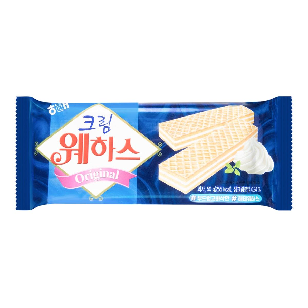 韩国HAITAI海太 冰激凌威化饼干 香草奶油口味 50g