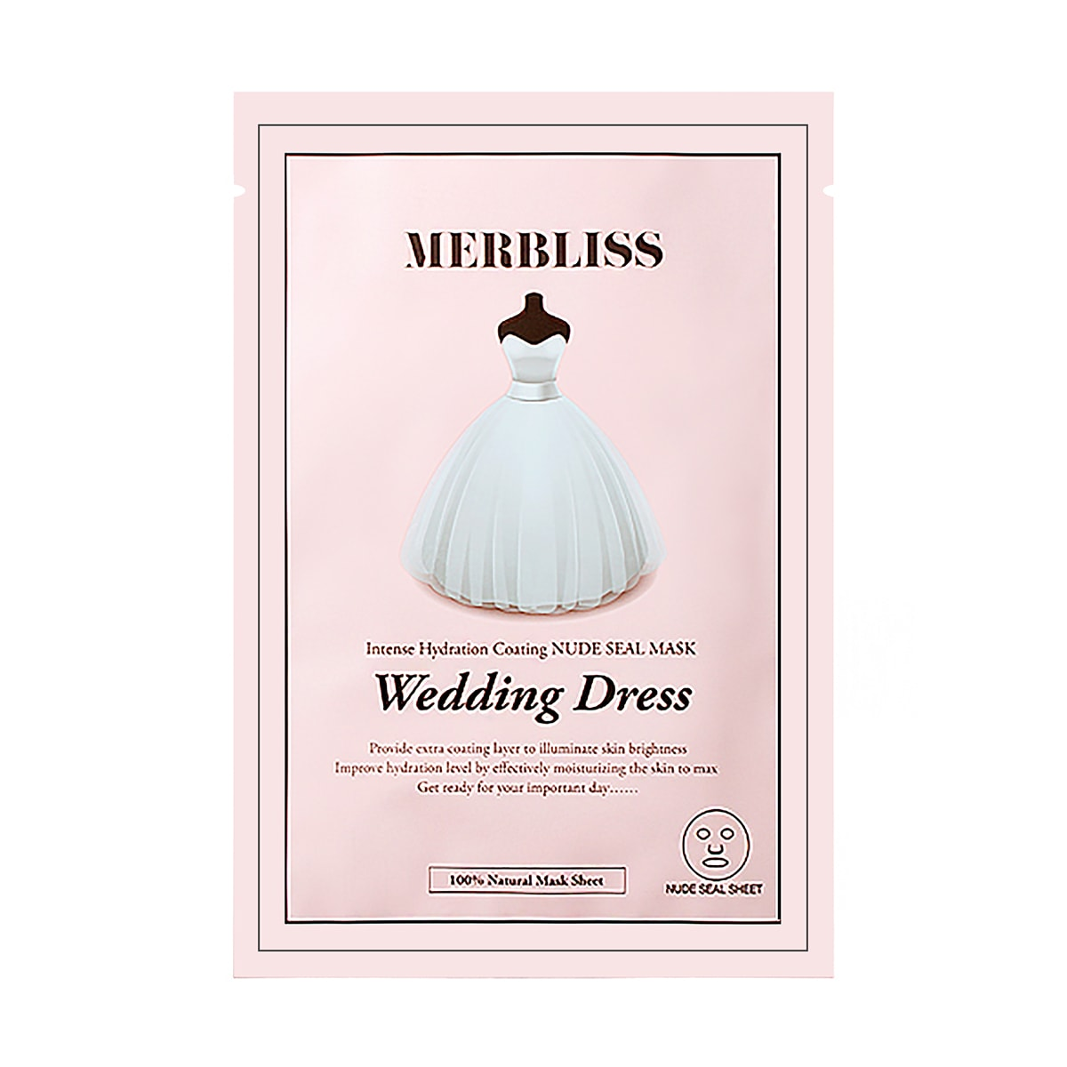 MERBLISS Wedding Dress Intense Hydration Coating Nude Seal Mask 1sheet