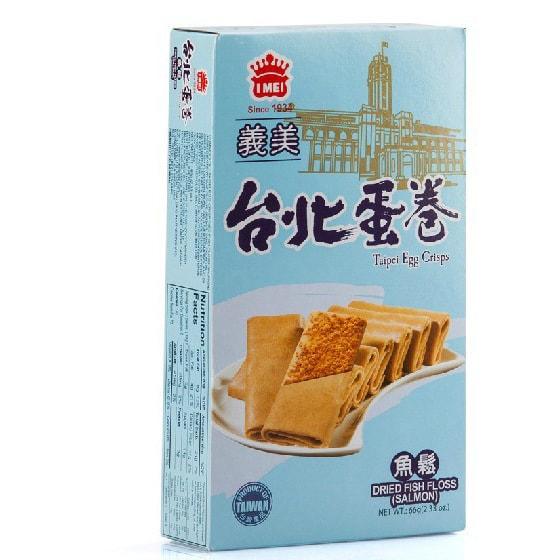 台湾IMEI义美 健康精选原料台北蛋卷 鱼松味 66g