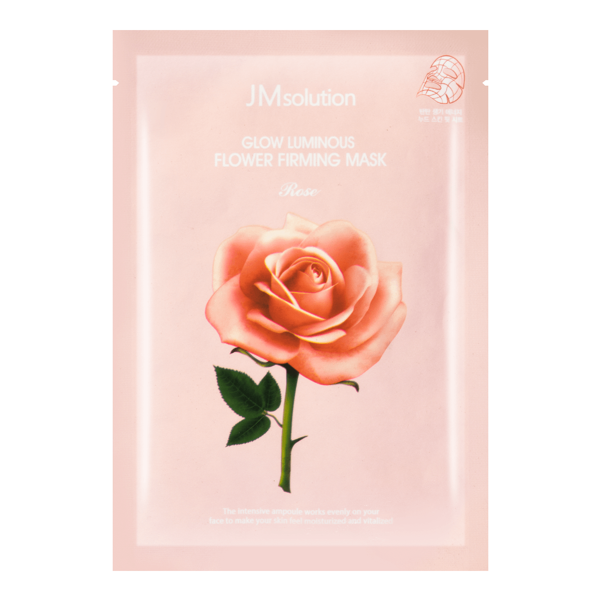 JM SOLUTION Glow Luminous Rose Flower Firming Mask 1 sheet