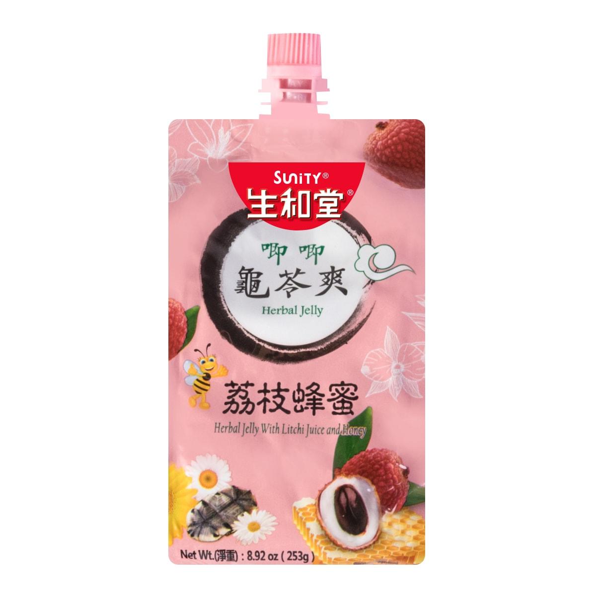 生和堂 唧唧 龟苓爽  荔枝蜂蜜味 253g 内含椰果粒