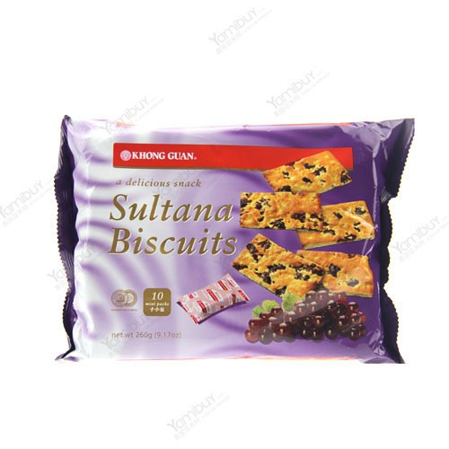 新加坡KHONG GUAN康元 提子饼干 10袋入