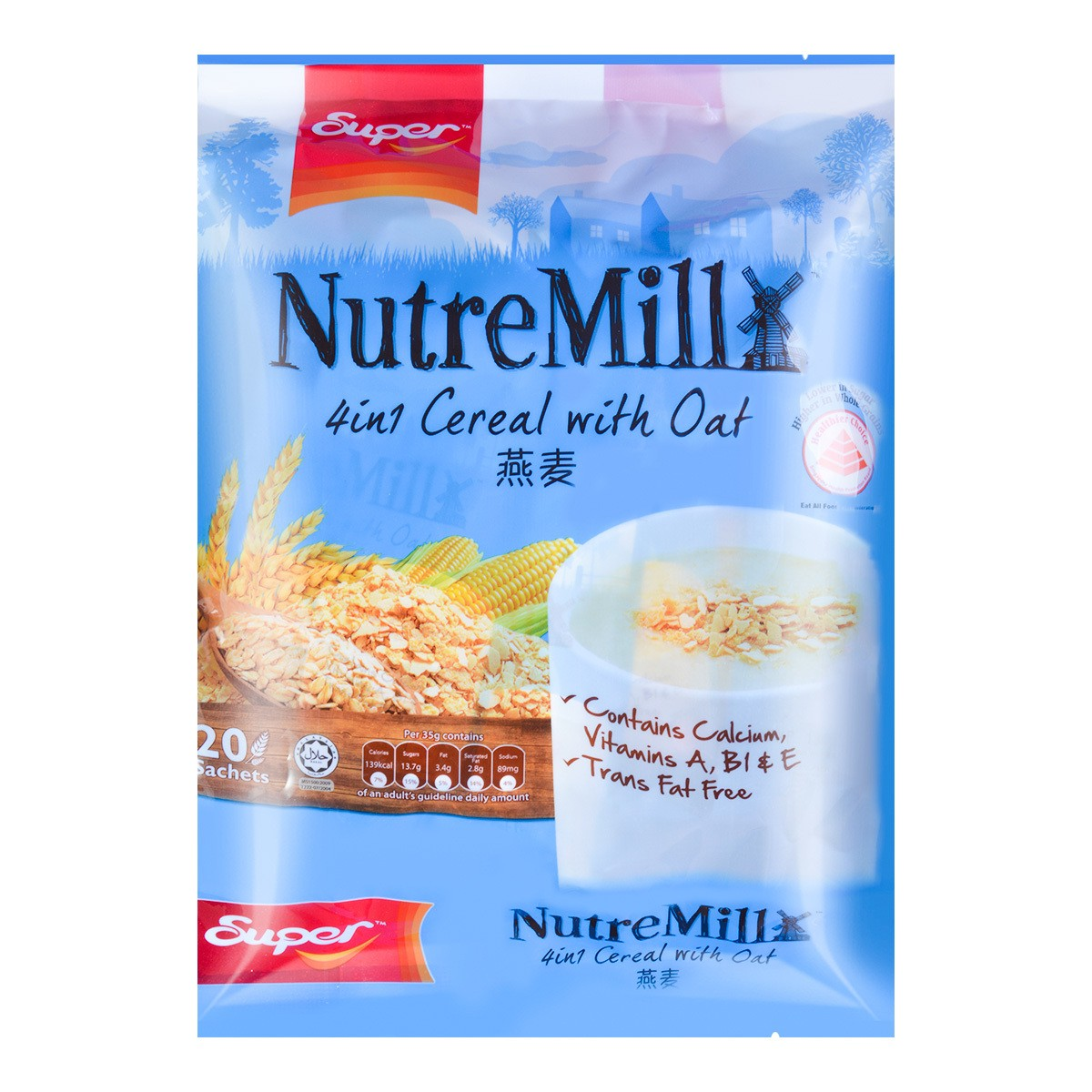 SUPER 4in1 Cereal with Oat 20sachets