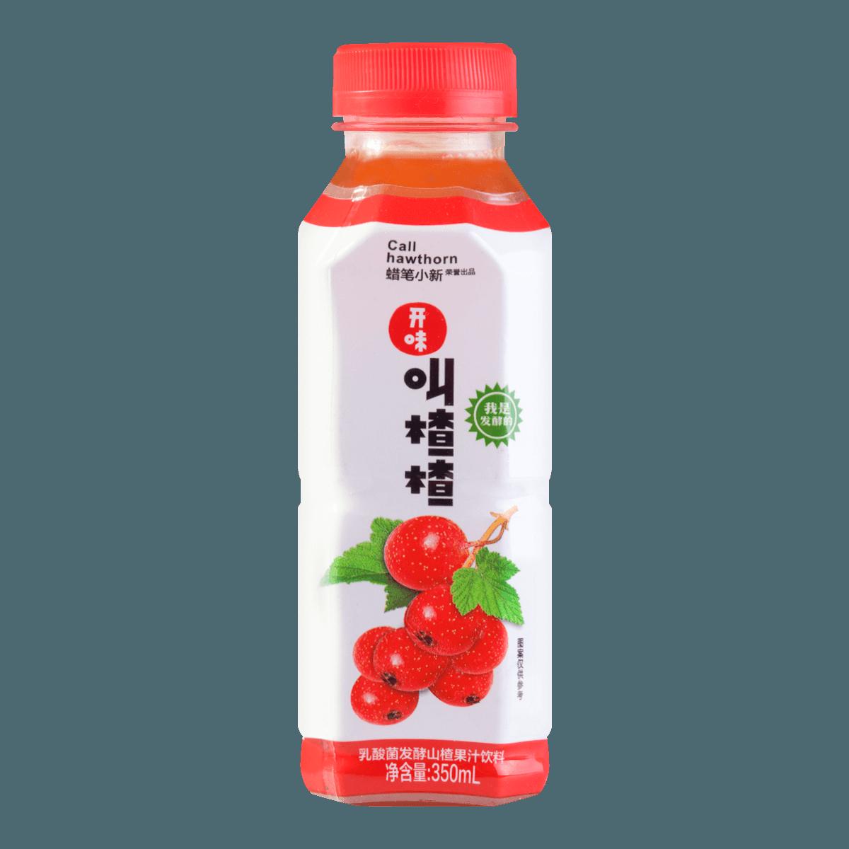 蜡笔小新 开味叫楂楂 乳酸菌发酵山楂果汁饮料 350ml