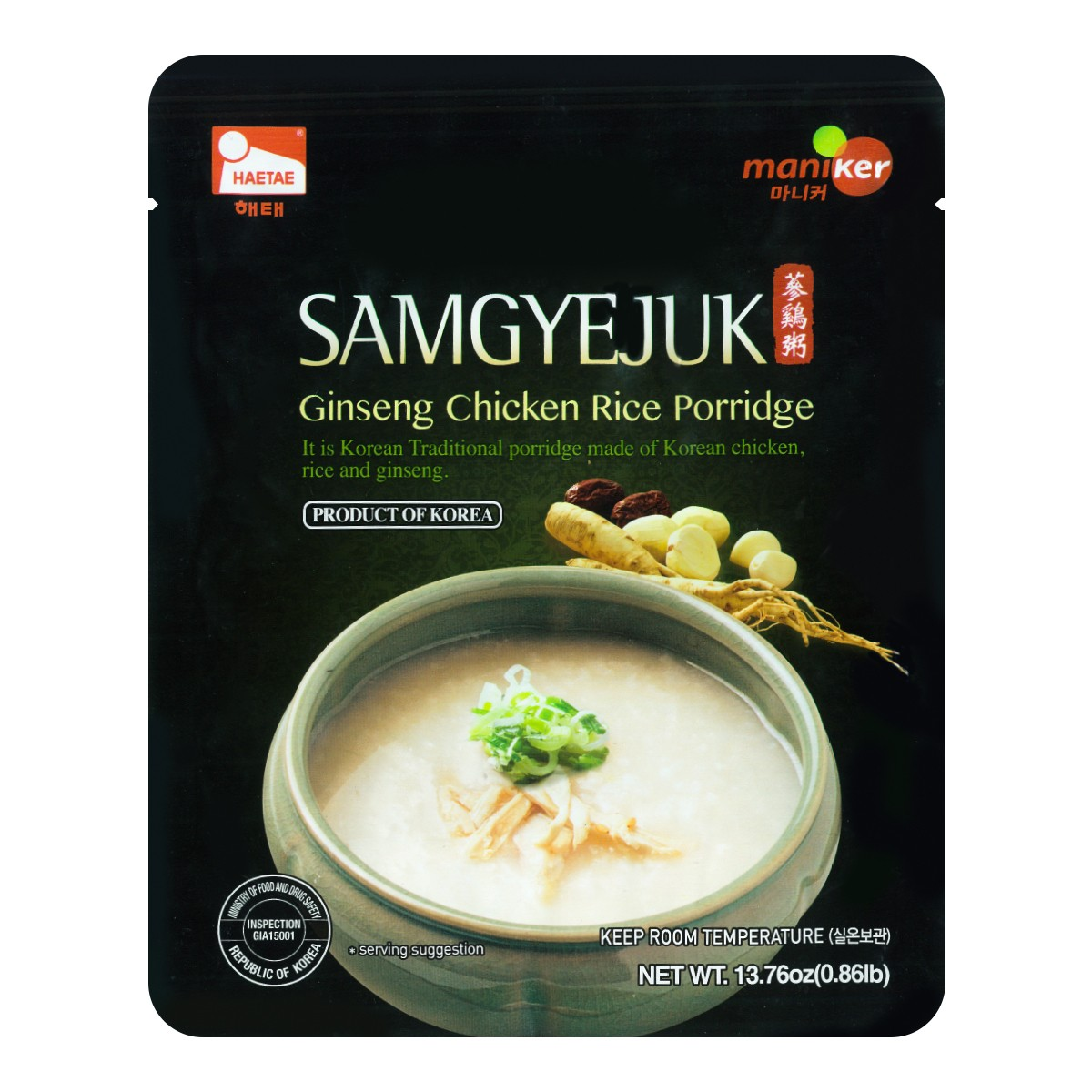 Maniker Ginseng Chicken Rice Porridge 390g