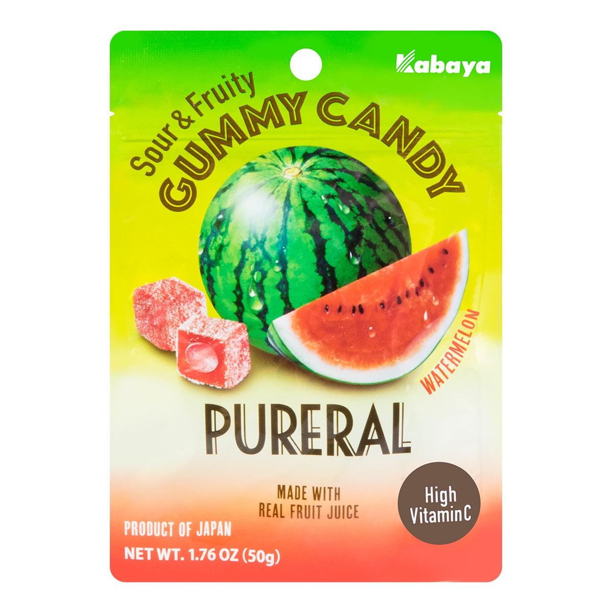 日本KABAYA 西瓜味夹心软糖 50g
