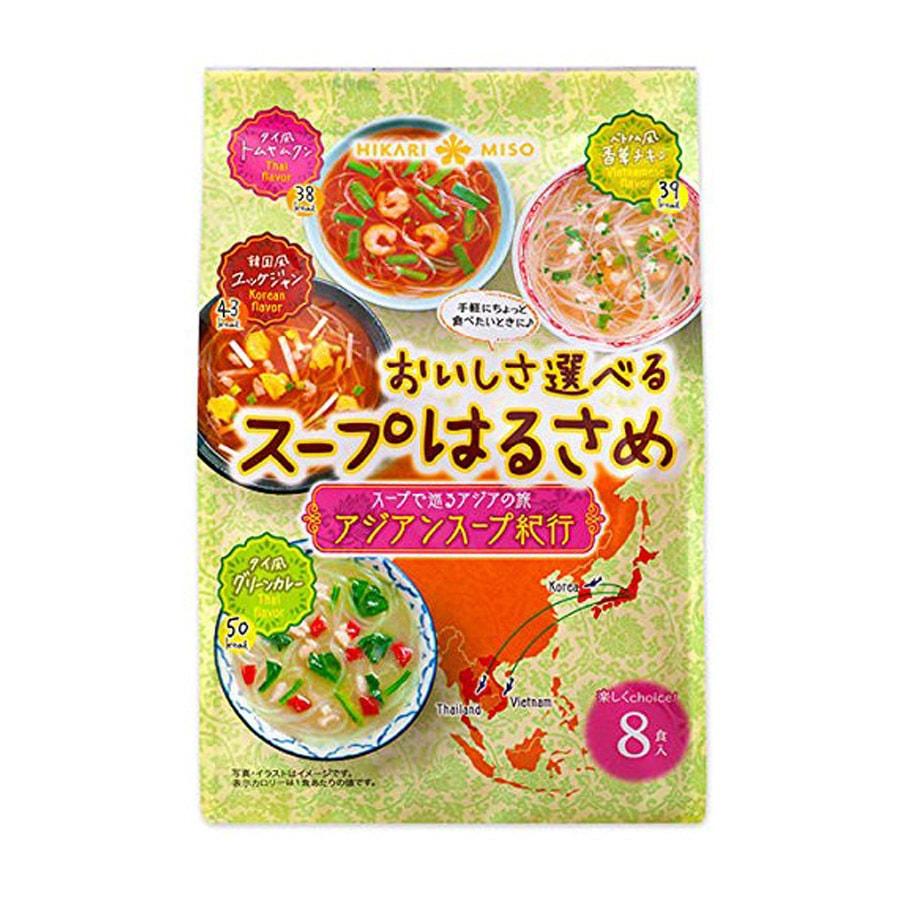 [日本直邮] HIKARIMISO 亚洲精选速食粉丝汤面 8袋装