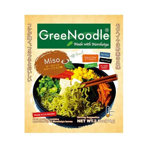 日本GREE NOODLE 有机野菜方便面 日式味增汤味 74g