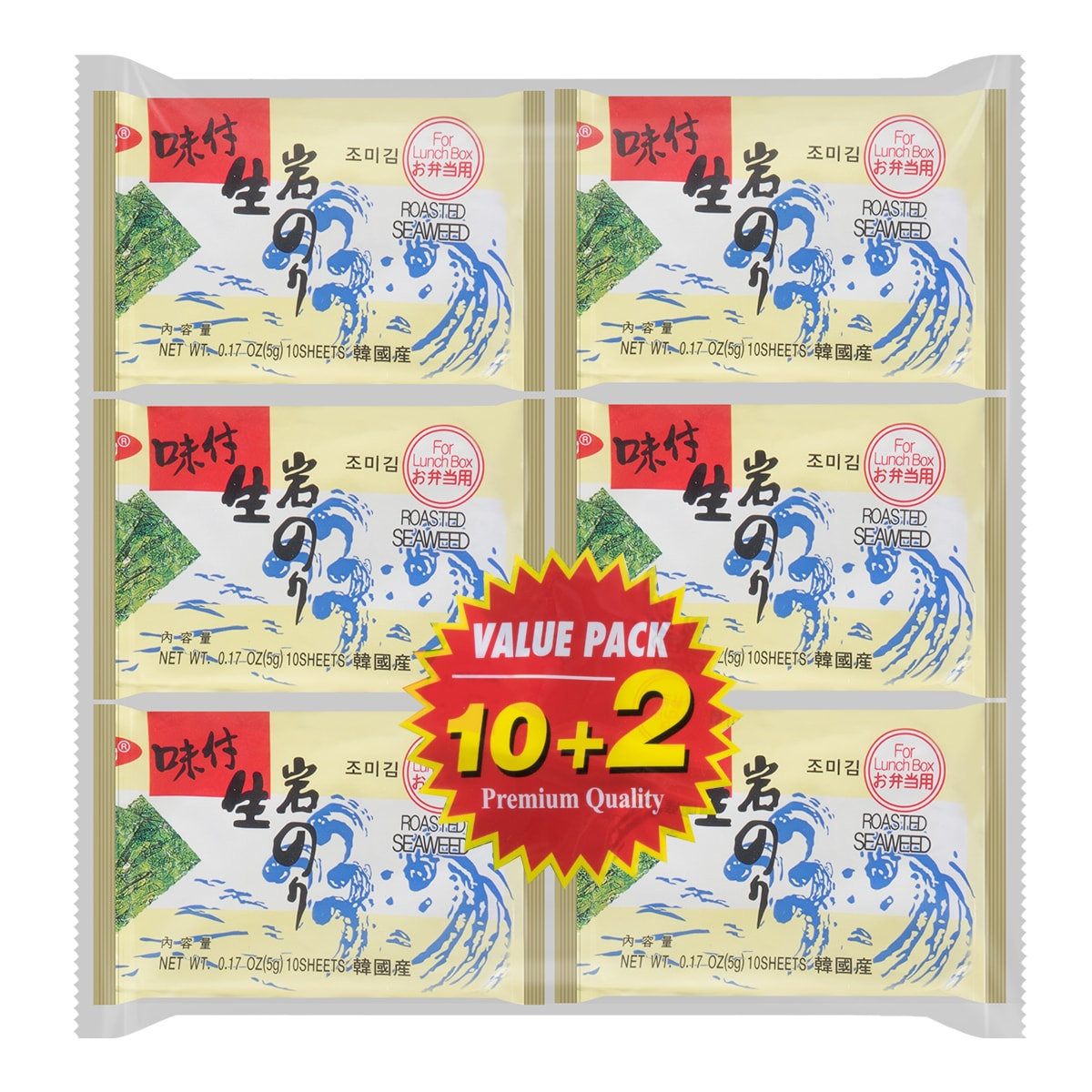 ORCHIDO Roasted Seaweed 12pc