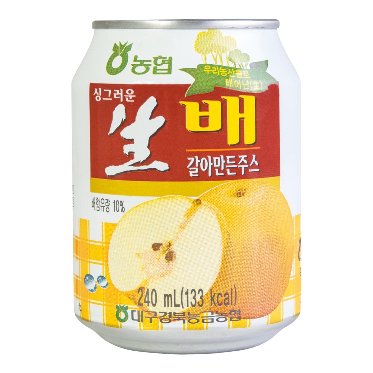 韩国NONGHYUP 水梨果肉果汁 240ml