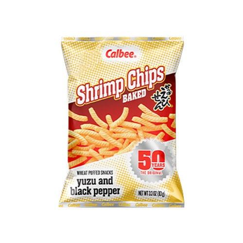 CALBEE Shrimp Chips Yuzu & Black Pepper Flavor 93g