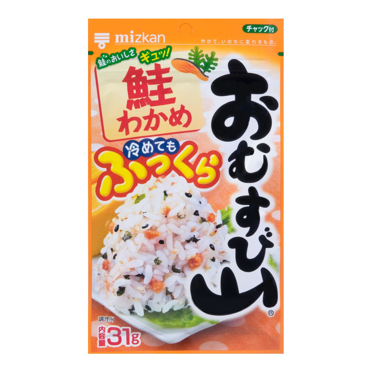 MIZKAN Dry Seasoning mix Omusubi Yama Sake Wakame 31g