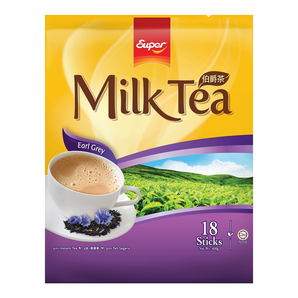 SUPER Earl Grey Milk Tea 450g 18sticks 450g