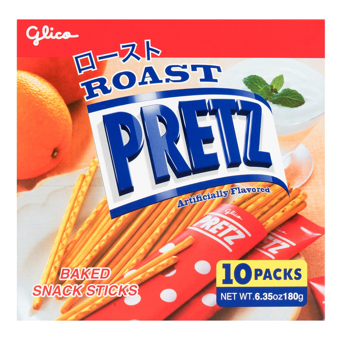 GLICO Prezt Roasted Stick 10packs Party Size 180g
