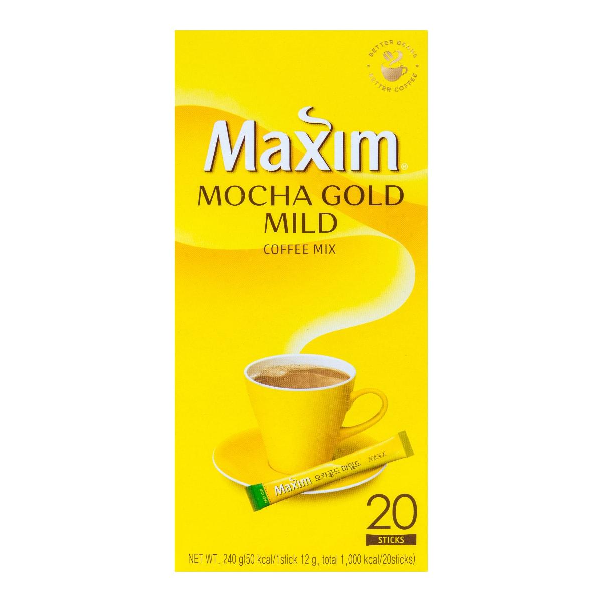 韩国MAXIM麦馨 三合一速溶摩卡咖啡 20条入 240g