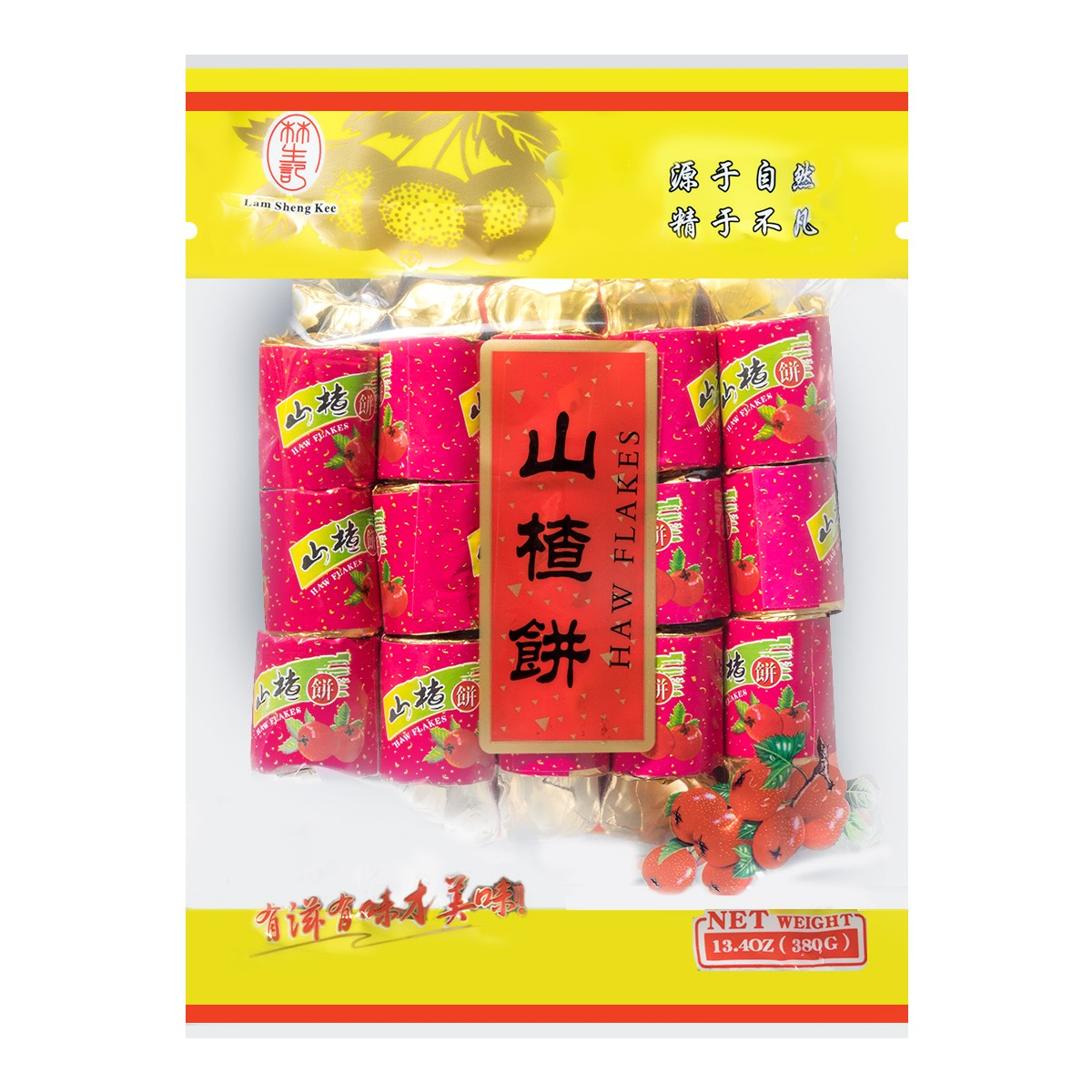 台湾林生记 山楂饼 大片分享装  380g