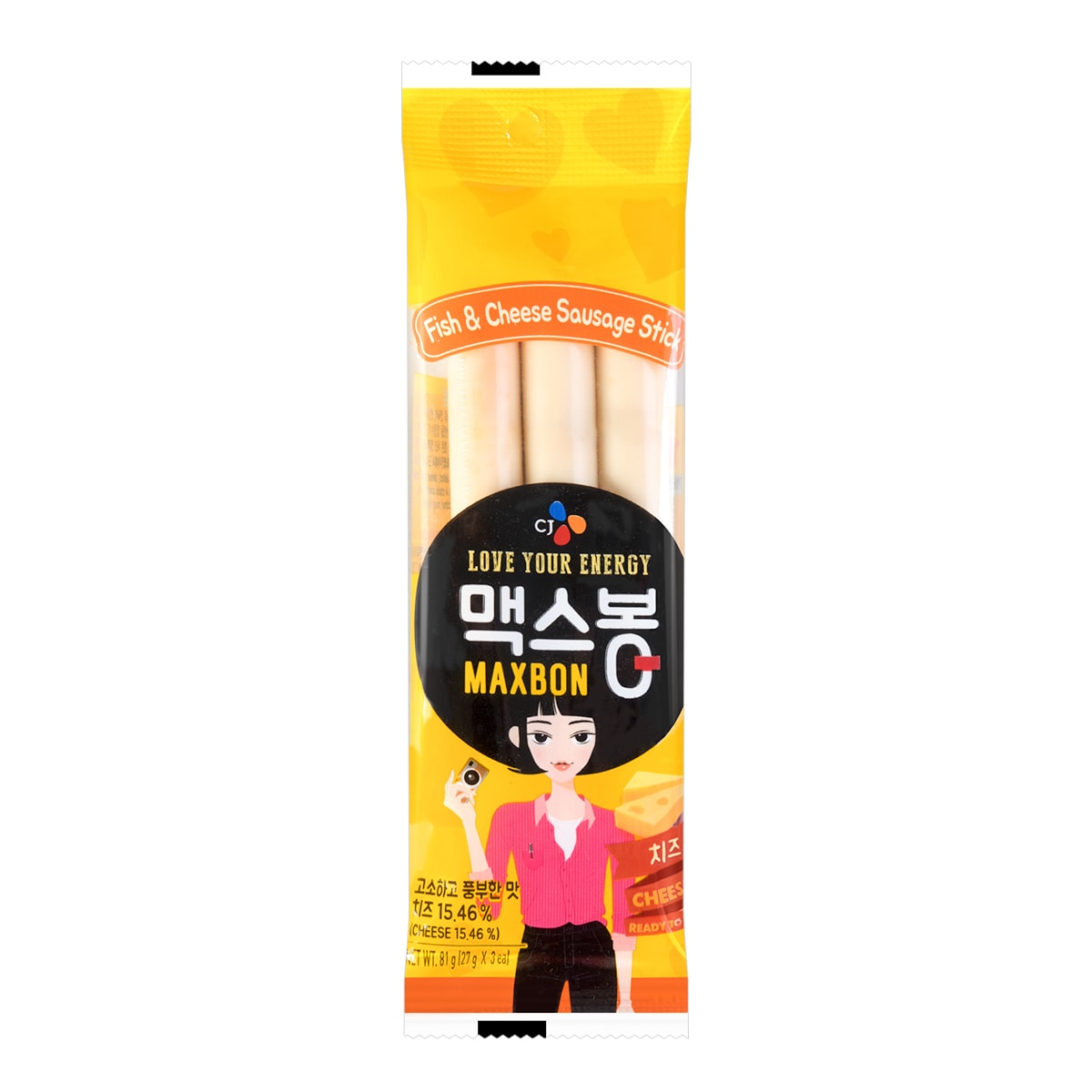 CHE IL JEDANG Fish and Chesse Sausage Stick 3 each 81g