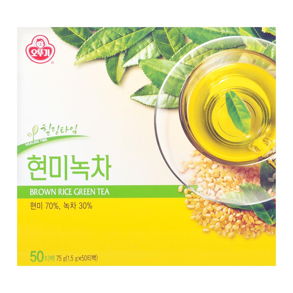 韩国OTTOGI不倒翁 糙米绿茶 1.5g*50包入