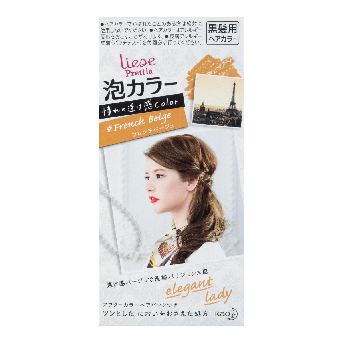 日本KAO花王 LIESE PRETTIA 泡沫染发剂 #法国糖果米色 单组入