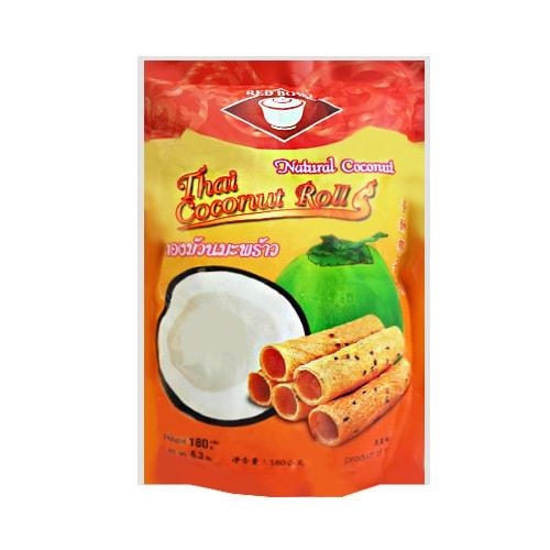 泰国RED BOWL 香酥椰子卷 180g