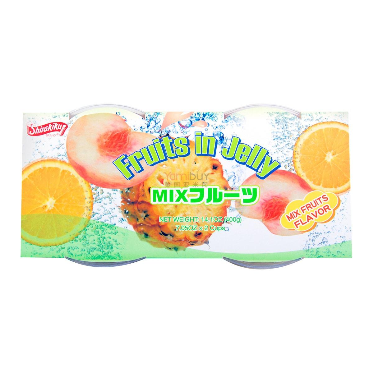 日本SHIRAKIKU赞岐屋 果肉果冻 综合味 400g