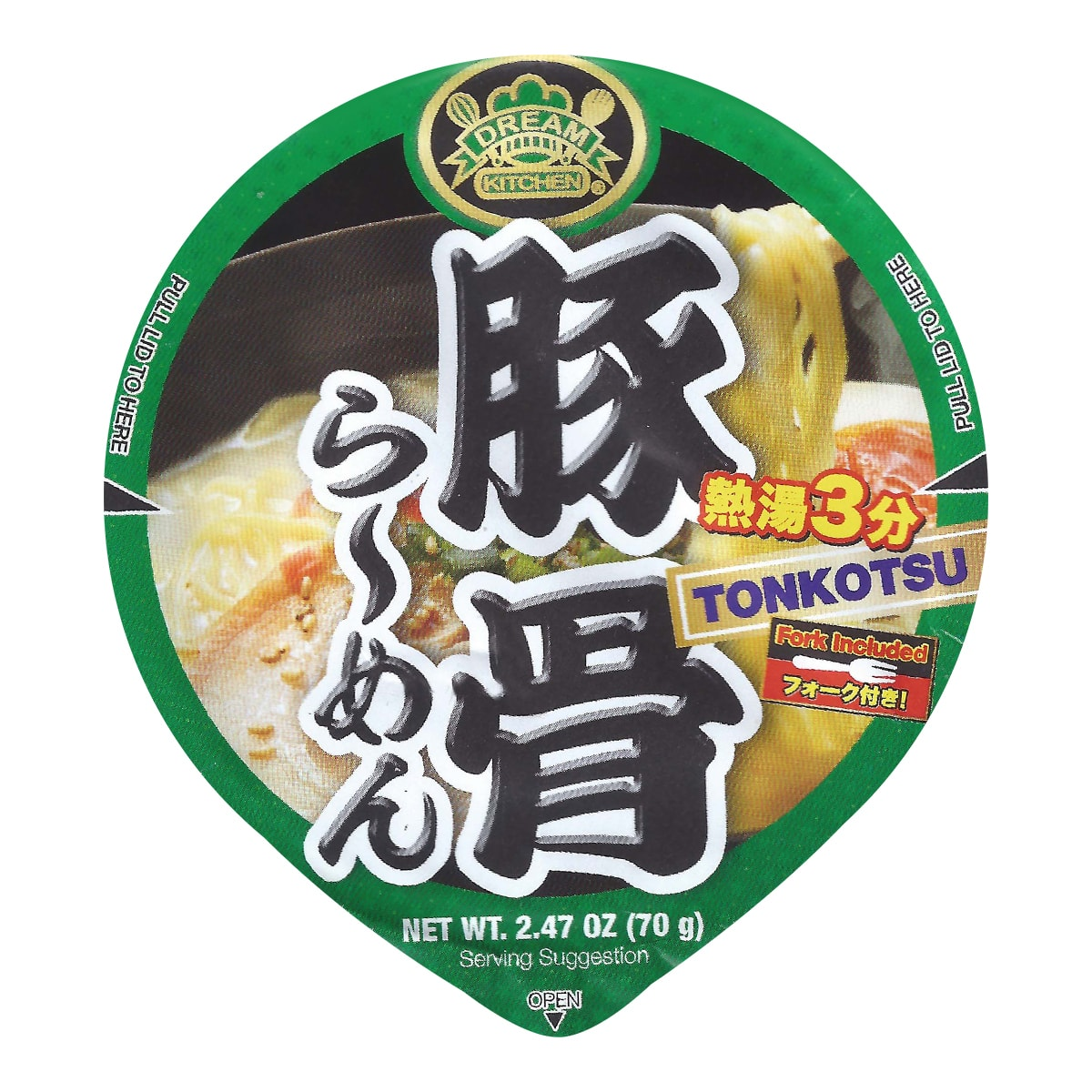 DREAM KITCHEN Tonkotsu Instant Noodle 70g