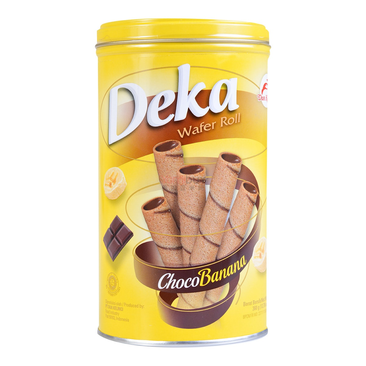 DUA KELINCI Deka Choco Banana Wafer Roll 360g