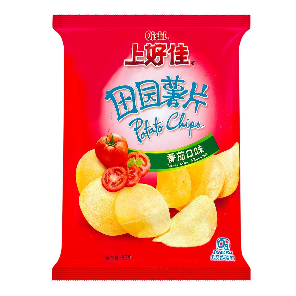 OISHI上好佳 田园薯片 番茄口味 80g