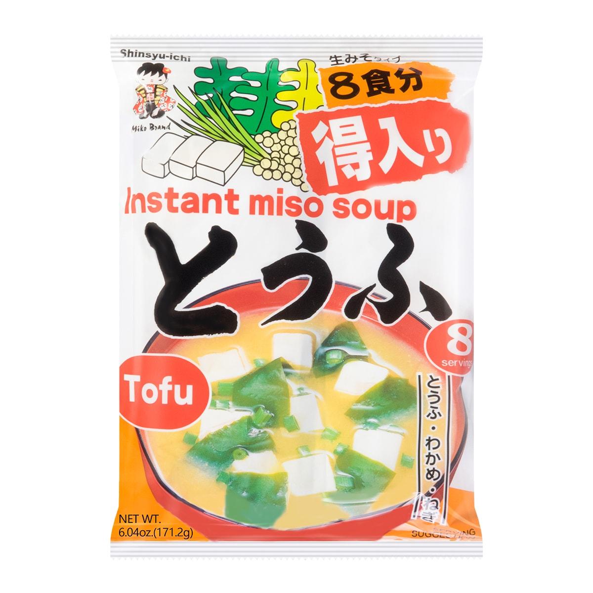 日本神州一味噌 速冲即食豆腐味噌汤 8包入 171.2g