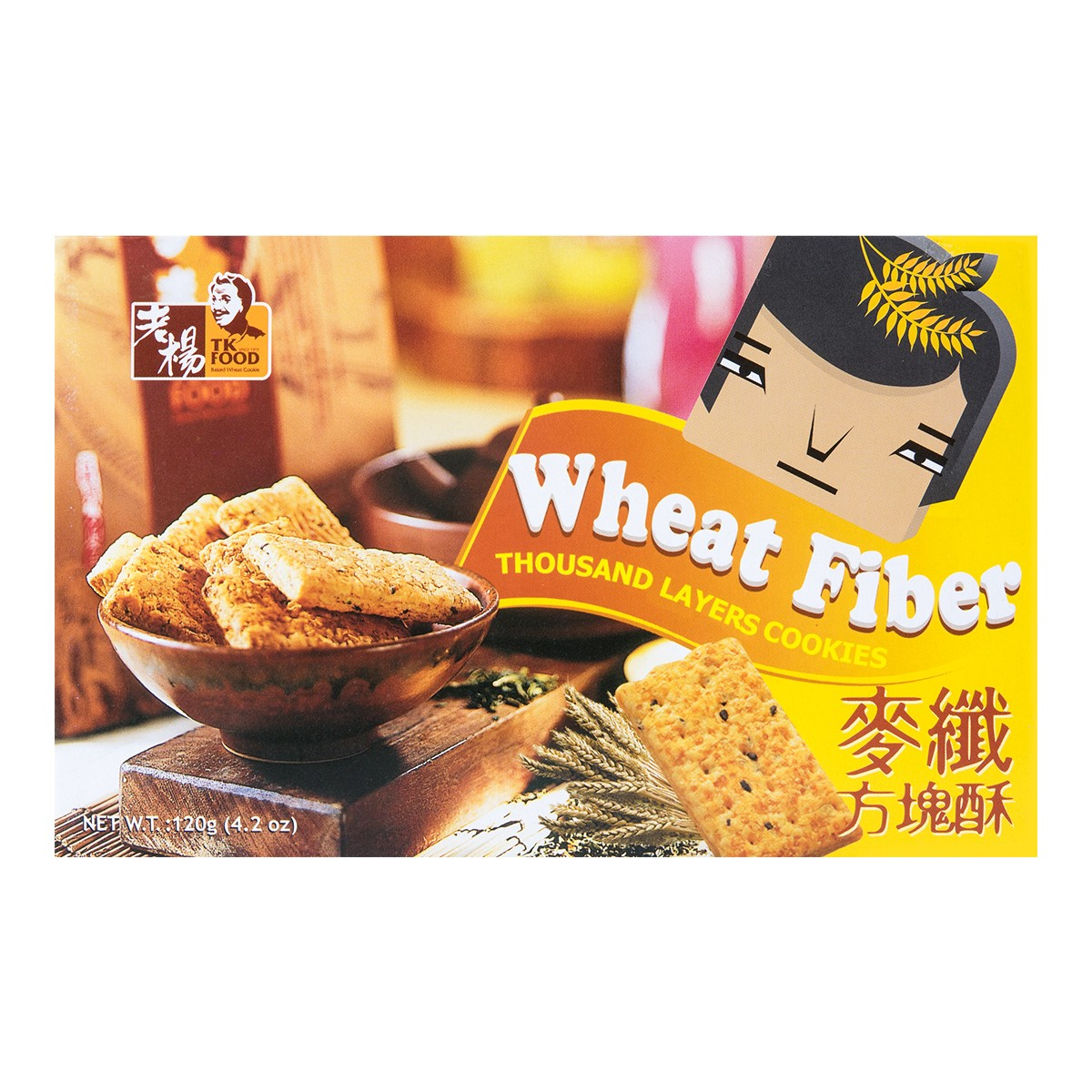 TK FOOD Whear Fiber Thousand Layers Cookies 120g